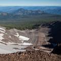A glaciated valley just north of the summit.- Diamond Peak, Marie + Rockpile Lakes