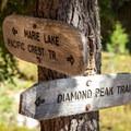 An alternate route to Diamond Peak on the way to Marie Lake.- Diamond Peak, Marie + Rockpile Lakes
