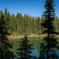 A view of Diamond Peak from the PCT.- Diamond Peak, Marie + Rockpile Lakes