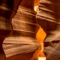Once inside the entrance, the outer world disappears.- Upper Antelope Canyon