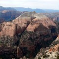 South Guardian Angel rises abruptly above the Subway, a popular canyoneering route.- North Guardian Angel Climb