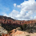 The trail traverses alongside the Hat Shop.- Under-the-Rim Trail to Hat Point