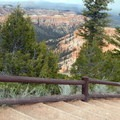 The hike begins pleasantly enough, descending a set of stairs.- Under-the-Rim Trail to Hat Point