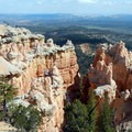 In the center of the photo lies the destination: the Hat Shop.- Under-the-Rim Trail to Hat Point