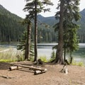 Campsite at Echo Lake.- Greenwater + Echo Lakes