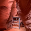 Lower Antelope has several ladders. Some are tall, some are not.- Lower Antelope Canyon