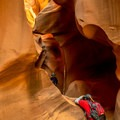 Trying to get a shot without people is tricky.- Lower Antelope Canyon