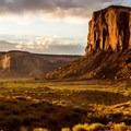 Sunrise from the Valley Drive near Elephant Butte.- Monument Valley Navajo Tribal Park