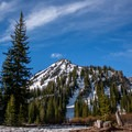 The view from Aneroid Lake.- Aneroid Lake