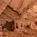 Anasazi ruin with petroglyphs.- Mystery Valley