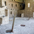 Puebloan ruins at Mesa Verde are made of sandstone blocks and mortar.- Spruce Tree House