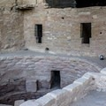 This open kiva would have been covered when Spruce Tree House was occupied.- Spruce Tree House