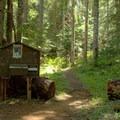 Diamond Peak Wilderness permit station. - Vivian Lake