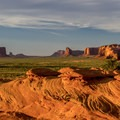 Sunset over Monument Valley.- Mystery Valley