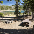 Typical campsite at Driftwood Campground. - Three Creek Lake, Driftwood Campground