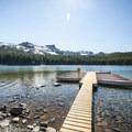 Three Creek Lake with Tam McArthur Rim (7,732') beyond.- Three Creek Lake