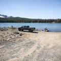 Three Creek Lake boat ramp.- Three Creek Lake