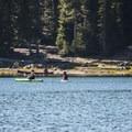 Paddlers on Three Creek Lake.- Three Creek Lake