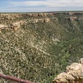 Soda Canyon, showing a great example of the typical Mesa Verde land forms.- Soda Canyon Trail