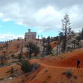 In other areas, the trail is narrow and follows a cliff edge.- Fairyland Loop