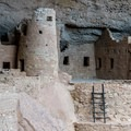 The circular tower at Cliff Palace is very well preserved.- Cliff Palace