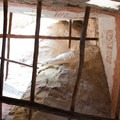 This shot is looking straight up inside a tower and shows the original painted plaster on the walls.- Cliff Palace