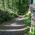 The trail lies about .25 miles down the Fort to Sea Trail from the Fort Clatsop Trailhead.- Kwis Kwis Trail