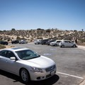The parking area for Keys View.- Keys View