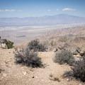 San Jacinto looming over Palm Springs.- Keys View