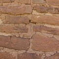 Detail showing the construction of these structures. Hand-shaped sandstone blocks and mortar.- Chapin Mesa