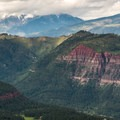 The Animus Valley and the San Juans beyond.- Animas Overlook Trail