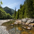 Swimming hole on the South Fork of the Snoqualmie River.- South Fork Snoqualmie River Picnic Area