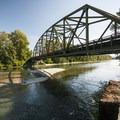 Highway 203 bridge over Skykomish River at Al Borlin Park.- Skykomish River, Al Borlin Park