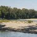 Pebble spit at Al Borlin Park on the Skykomish River.- Skykomish River, Al Borlin Park