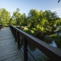 Footbridge at Al Borlin Park over Woods Creek.- Skykomish River, Al Borlin Park