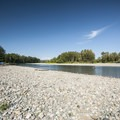 Pebble spit at Al Borlin Park on the Skykomish River.- Skykomish River, Al Borlin Park