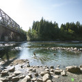 Swimming hole at Big Eddy Park and River Access.- Skykomish River, Big Eddy Park