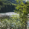 Sun bathers on the Skykomish River at Big Eddy Park.- Skykomish River, Big Eddy Park