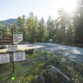 Parking area at Big Eddy Park.- Skykomish River, Big Eddy Park