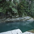 Rope swing at Eagle Falls Swimming Hole.- Eagle Falls Swimming Hole