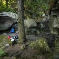Picnic and day use at Eagle Falls Swimming Hole.- Eagle Falls Swimming Hole