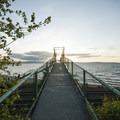 Footbridge to Carkeek Park beach.- Carkeek Park