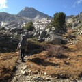 Hike up to Glen Pass.- Rae Lakes Loop