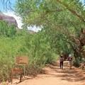 Continuing on the trail to New Navajo Falls. - Havasu Falls Hike via Havasupai Trail