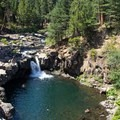 Lower Falls, a popular swimming hole on the upper McCloud River.- Lower Falls