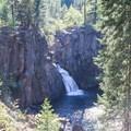 The McCloud River's Upper Falls overlook.- McCloud River Upper Falls