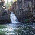 Those looking for a quieter swimming hole are likely to find it at Upper Falls.- McCloud River Upper Falls