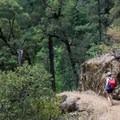 Trail leading down to Potem Falls.- Potem Falls