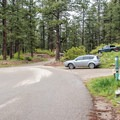 Campground entrance.- Haviland Lake Campground
