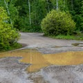 The campground roads are a bit primitive in spots.- Haviland Lake Campground